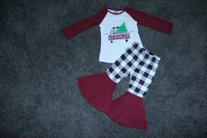 Maroon Christmas Truck Set