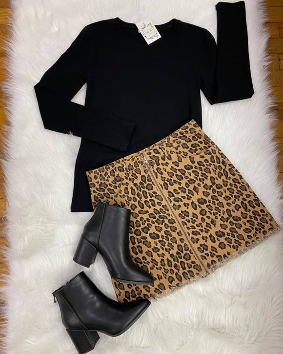 Hear Me Roar Cheetah Print Skirt