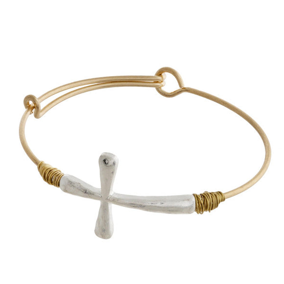 Price Is Paid Metal Bracelet in Gold