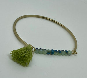 Beads and Thread Tassel Bracelet