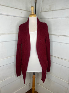 Warm Me Up Cardigan in Cabernet