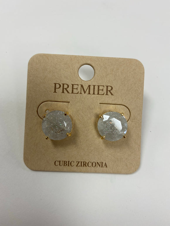 Cubic Zirconia Earrings - Large