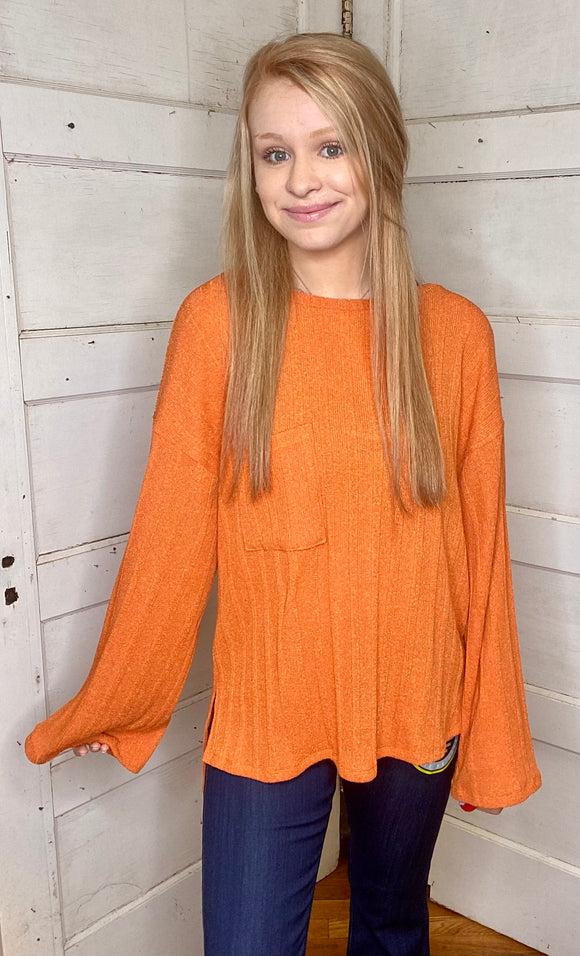 Orange Dream Long Sleeve Top