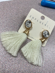 Fringe Stone Earrings
