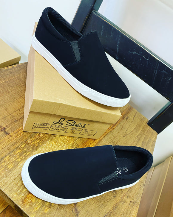 Slip On Sneakers - Black
