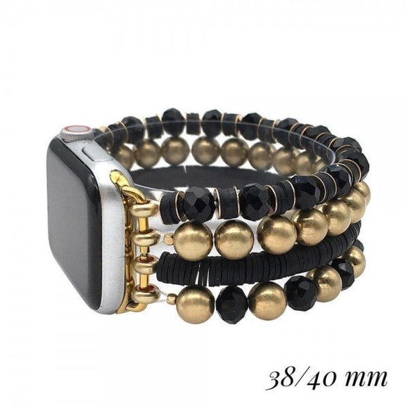38/40mm Black Heishi Beaded Apple Watch Band