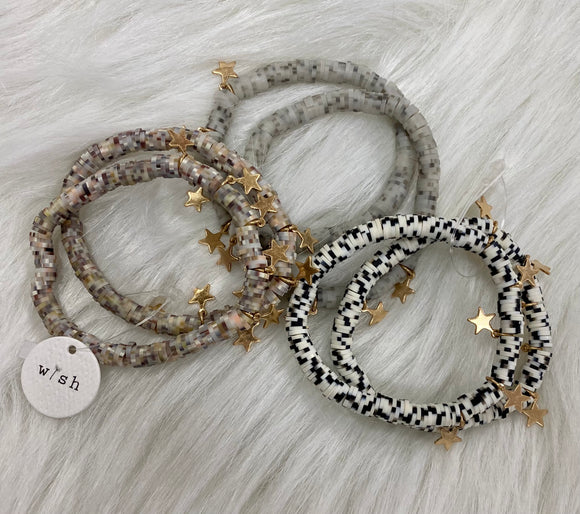 Heishi Beaded Stretch Bracelets