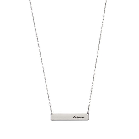 Chosen Bar Necklace in Silver