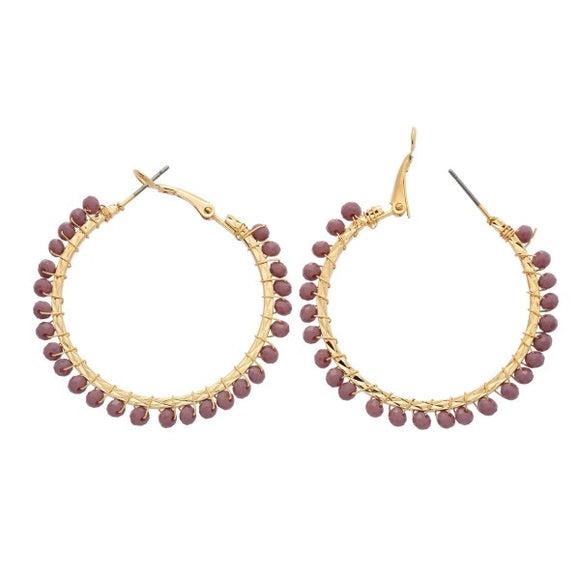 Springs Here Hoop Earrings