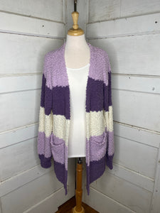 Lilac Colorblock Cardigan