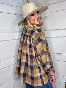 Fall Essential Plaid Top