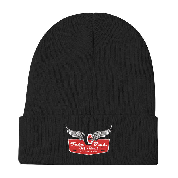 Tate Bros Embroidered Beanie