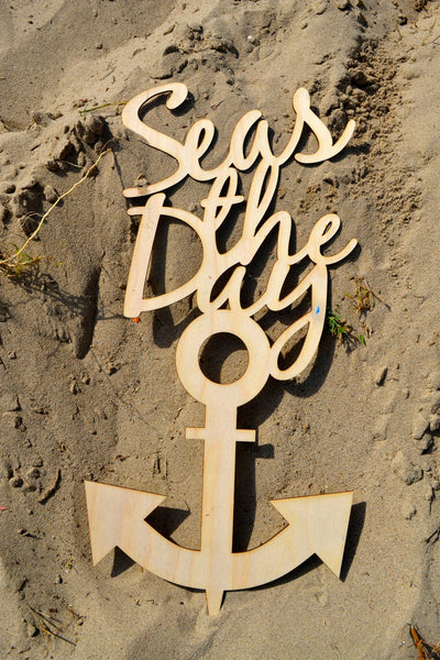 Seas the Day Anchor Wall Art