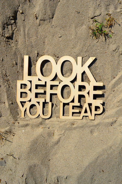 Look Before You Leap Wall Art