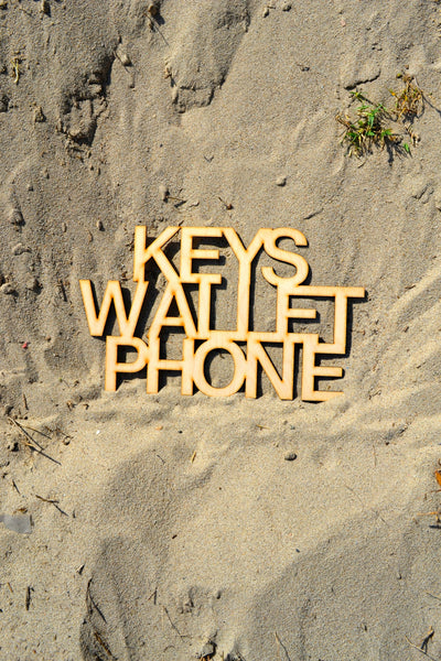 Keys Wallet Phone Wall Art