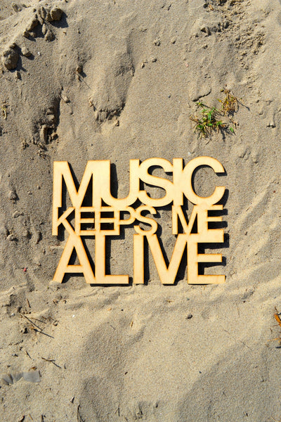 Music Keeps Me Alive Wall Art