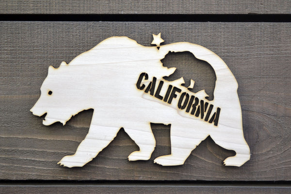 Cali Bear Wood Cutout