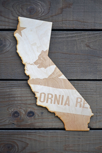 California bear wood art