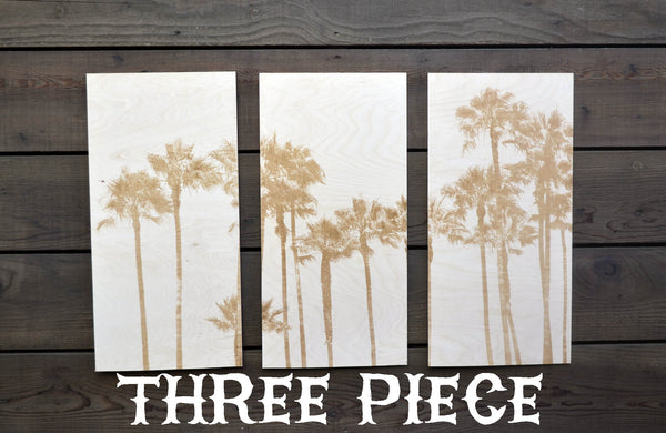 Palm Trees Three Piece Triptych