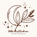 moon with lavender sprig with stars around and the name Miki Brittenham