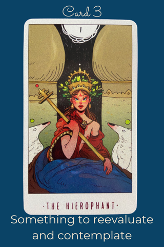 The Hierophant Card from White Numen A Sacred Animal Tarot