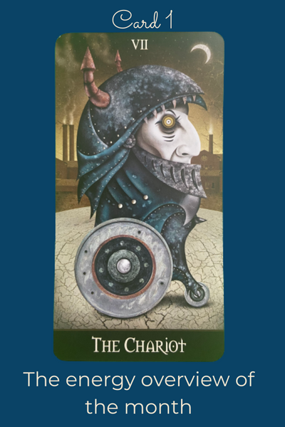 The Chariot card from the Deviant Moon Tarot