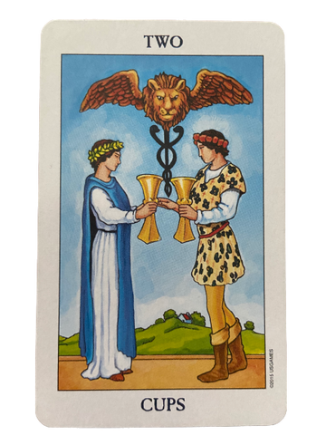 Two of Cups, Rider Waite-Smith Tarot Card