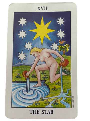 The Star Rider Waite- Smith Tarot Card