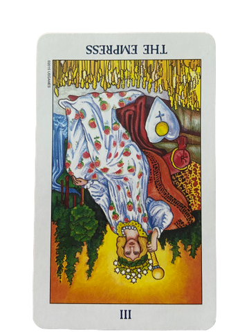 The Empress reversed Rider Waite-Smith Tarot Card