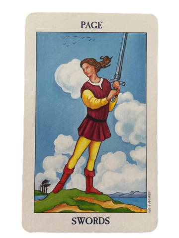 Page of Swords Rider Waite-Smith Tarot Card