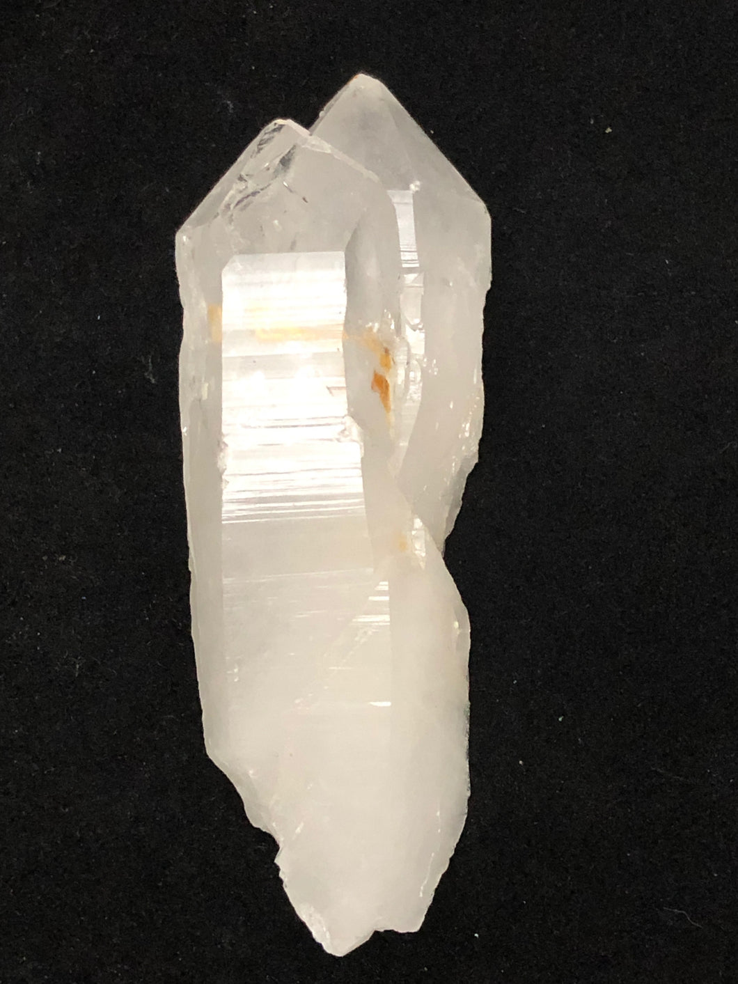 quartz crystal double point