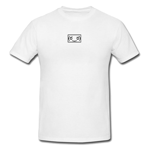Memeulous Face Embroidered Tee - White