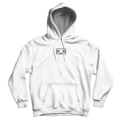 Memeulous Face Embroidered Hoodie - White