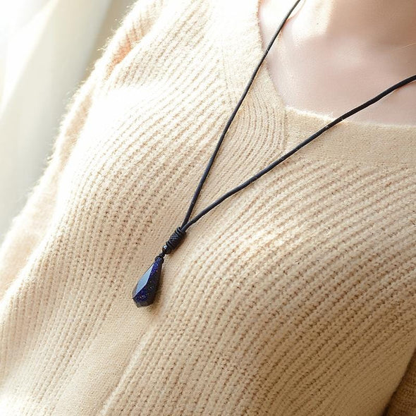 Blue Sandstone Empowering Necklace