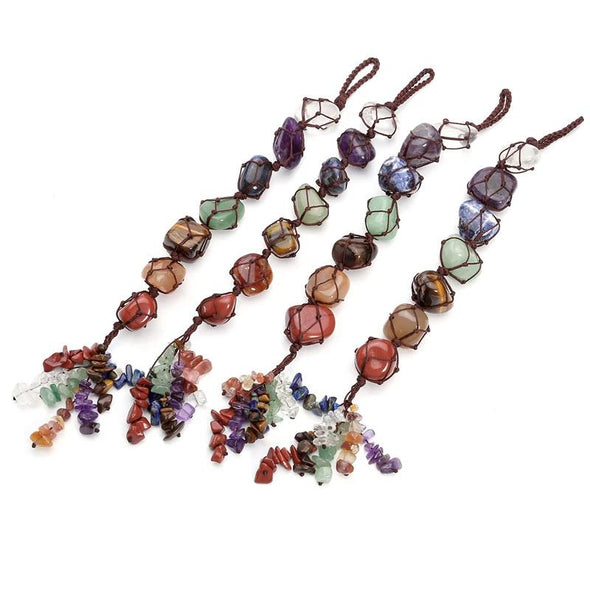 7 Chakra Tumbled Gemstones Tree of Color