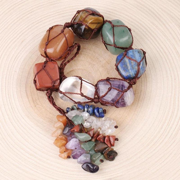 7 Chakra Tumbled Healing Gemstones Tree of Color