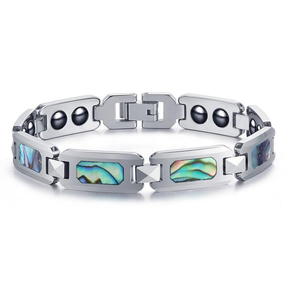 Abalone Shell Inlay Magnetic Therapy Bracelet