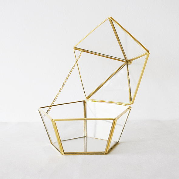 Crystal Display Box - Pentagonal