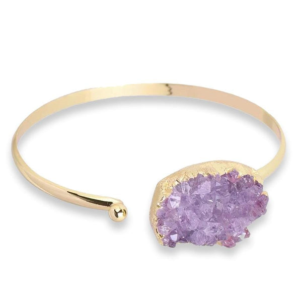 Amethyst Gold Bangle