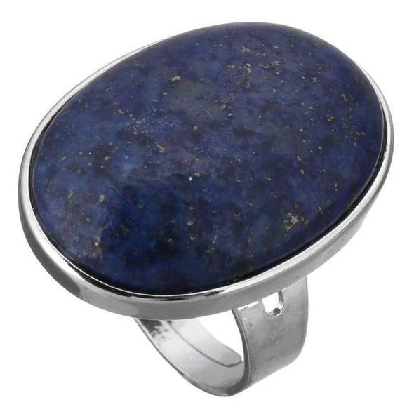 Crystal Oval Geometric Ring Tree of Color lapis lazuli