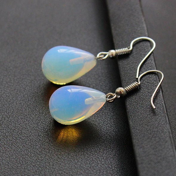 Moonstone Opal Drop Earrings