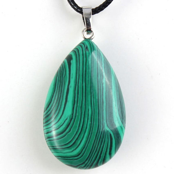 Malachite Water Drop Pendant Tree of Color