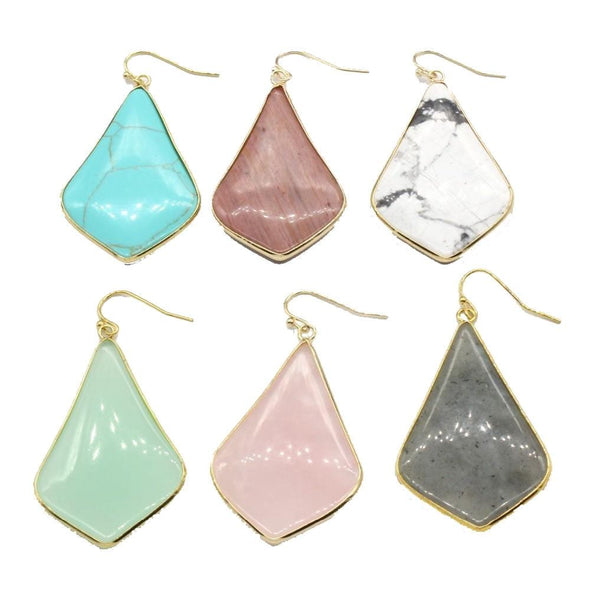 Rhombus Crystal Earrings