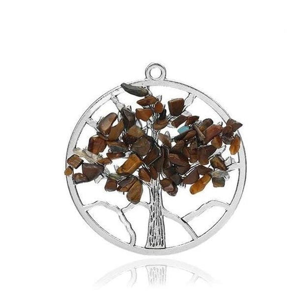 Wisdom Tree of Life + 7 Chakras Necklace Tree of Color 1