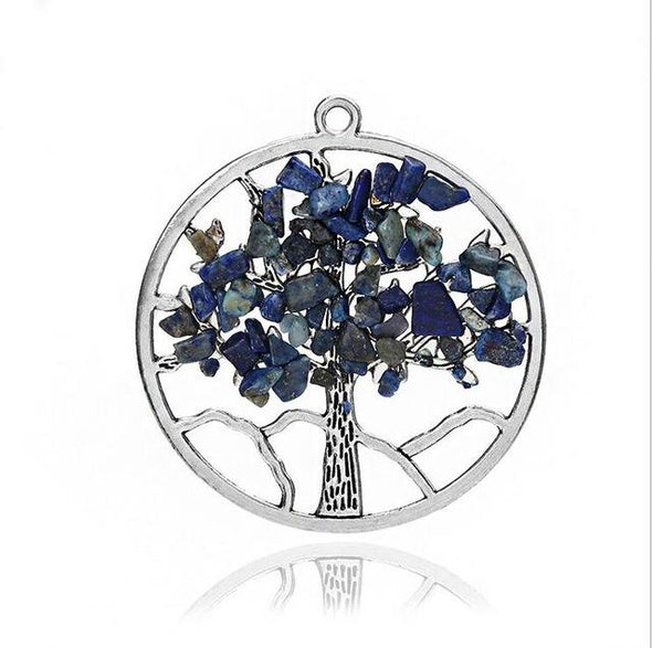 Wisdom Tree of Life + 7 Chakras Necklace Tree of Color 3