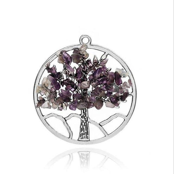 Wisdom Tree of Life + 7 Chakras Necklace Tree of Color 6