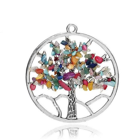Wisdom Tree of Life + 7 Chakras Necklace Tree of Color 7