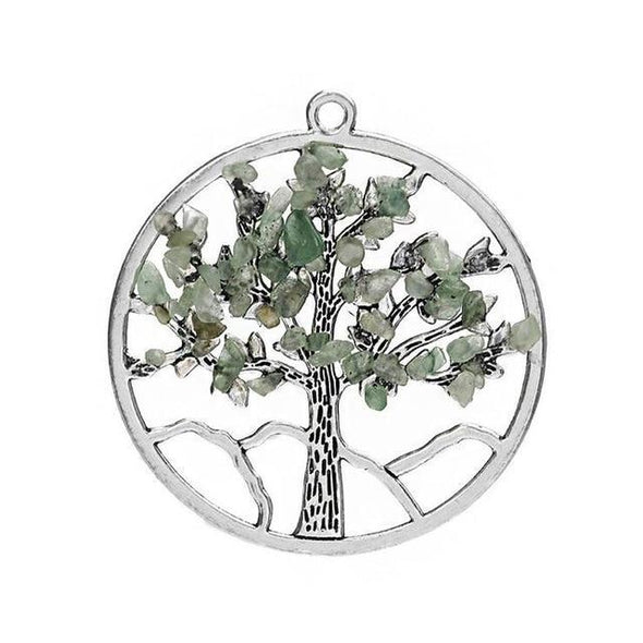 Wisdom Tree of Life - Chakra Necklace Tree of Color Light Green