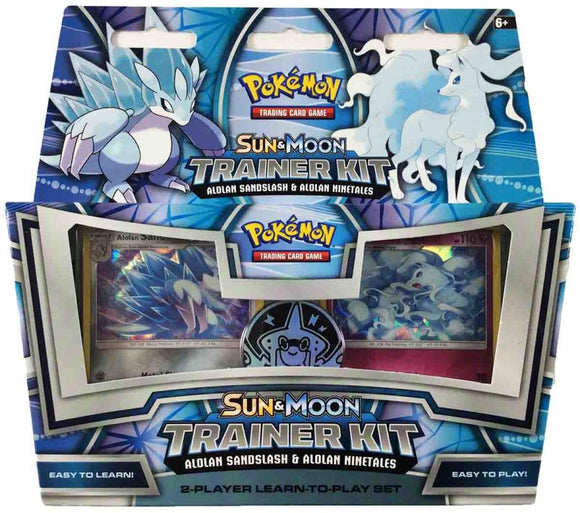 Pokemon Sun & Moon Trainer Kit (Alolan Sandlash & Alolan ninetales) 2-player learn-to-play set