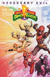 MIGHTY MORPHIN POWER RANGERS #50 COVER A CAMPBELL